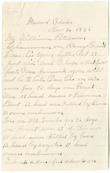Frank Clark letter (Old Ephraim)