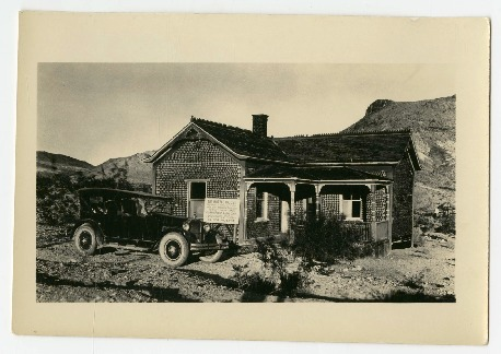 The Bottle House in Rhyolite, Nevada, 1920s