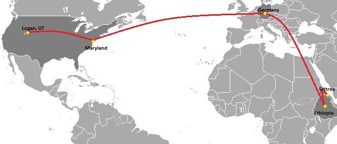 Maps of Eritrean Refugee Migration