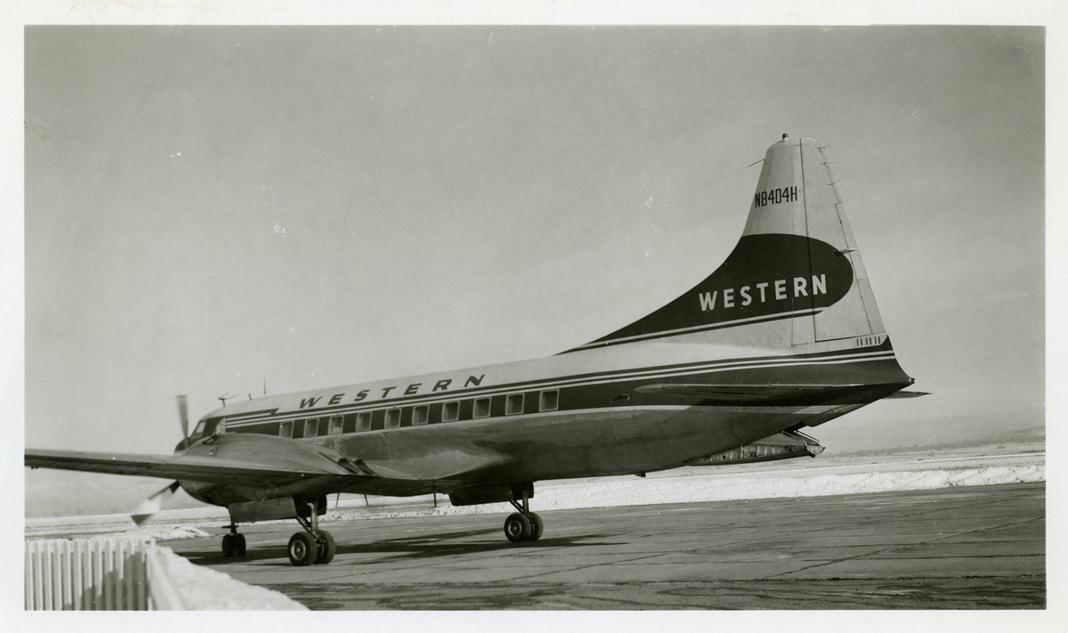 Western CV-240 Parked at Airport