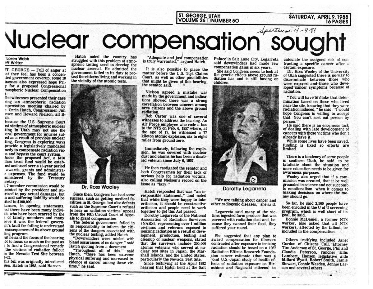 Nuclear Compensation Sought