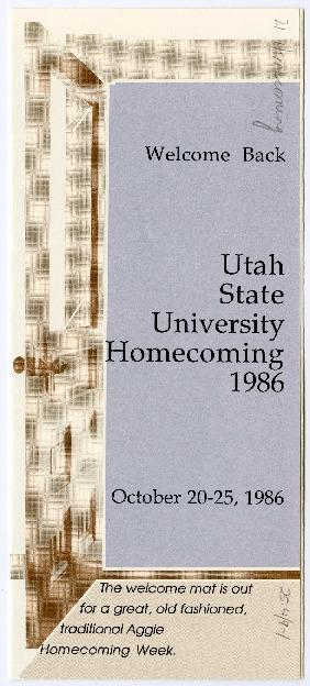 Alumni homecoming brochure, 1986
