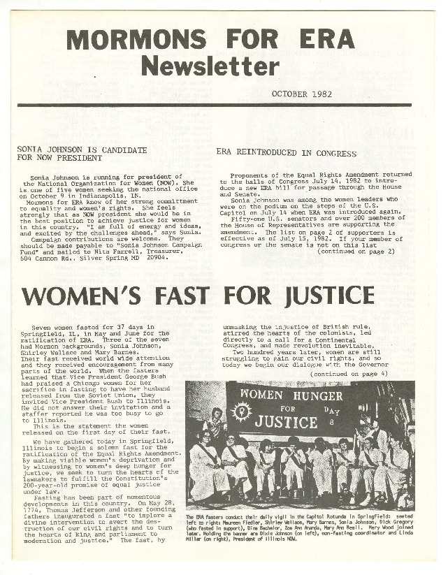 """Women's Fast for Justice"""