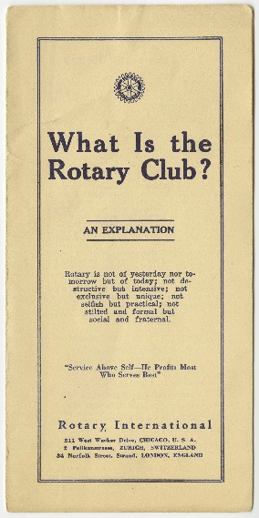 What is the Rotary Club?, 1929