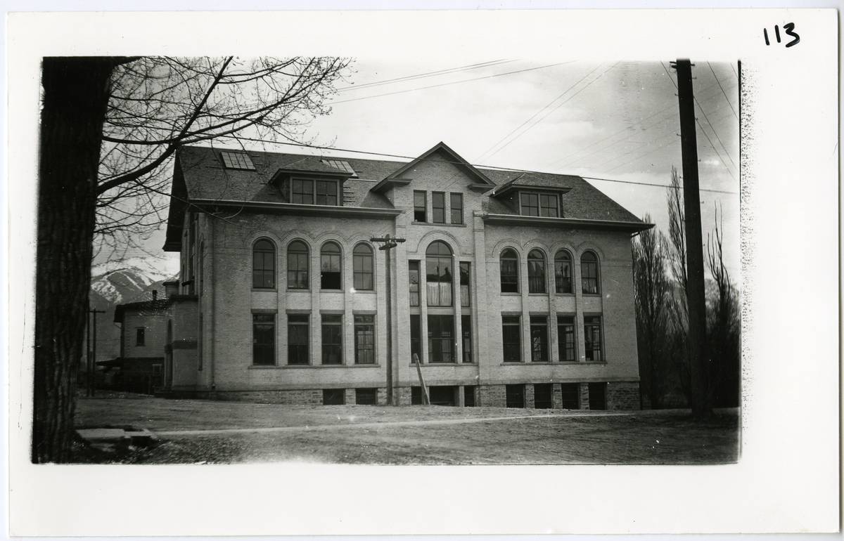 Mechanical arts building, Brigham Young College, Logan, Utah (March 23, 1908)