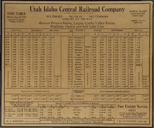 U.I.C. Timetable, June 1918<br />