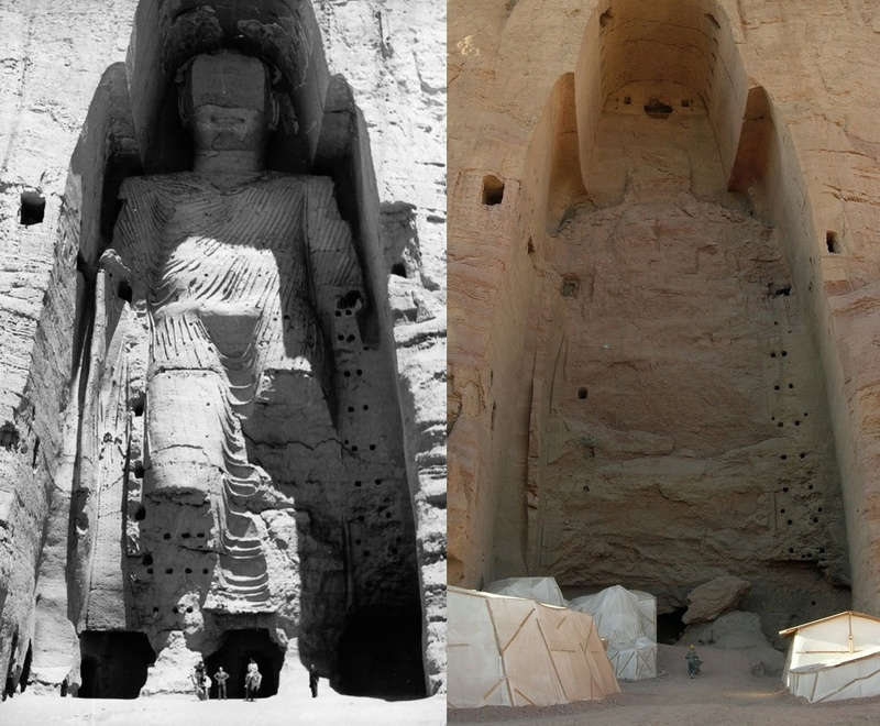 Taller Buddha of Bamiyan, Before and After Destruction