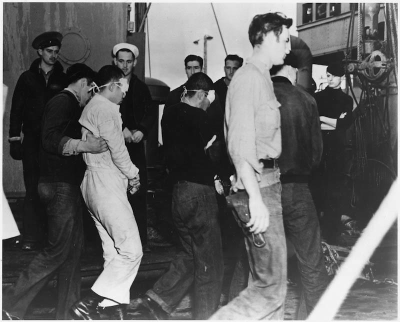 Captured Japanese sailors