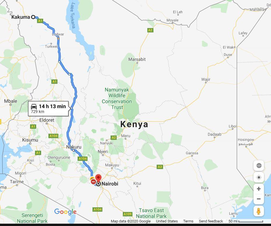 Kakuma to Nairobi