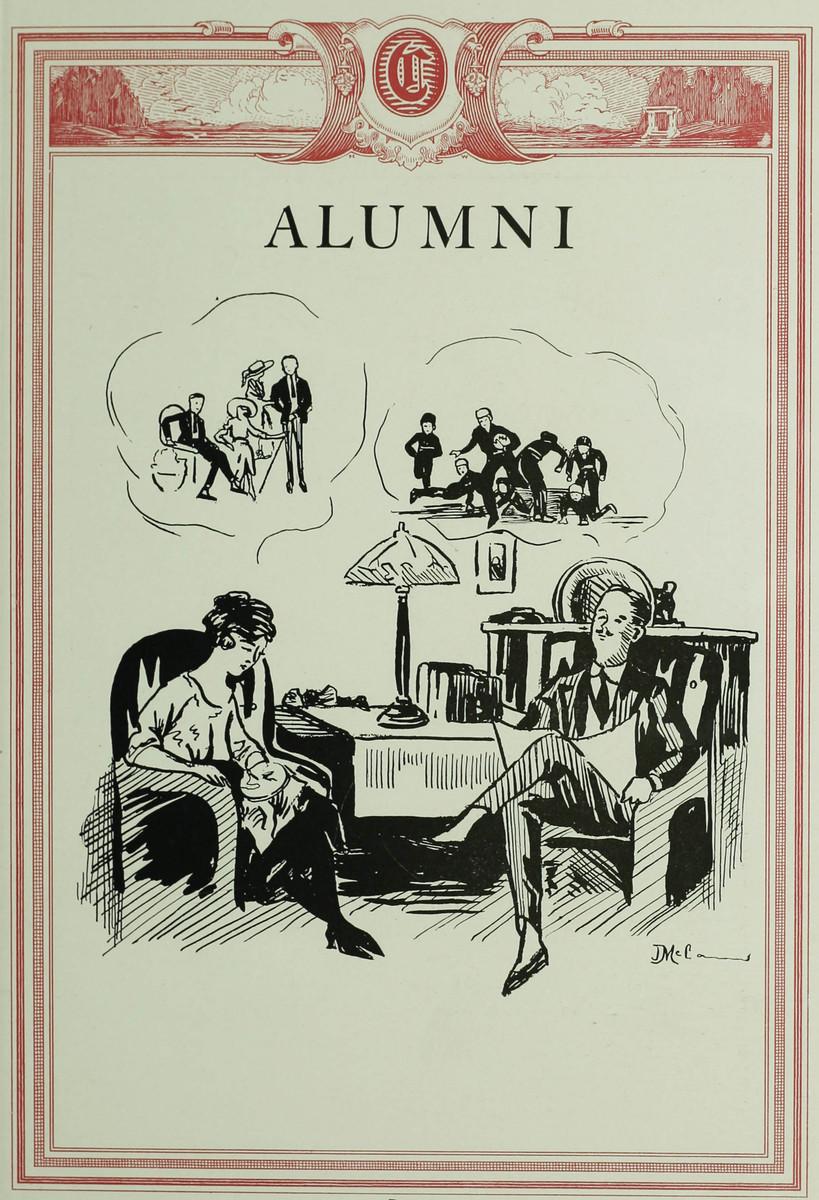 Alumni page from the 1921 Crimson Annual