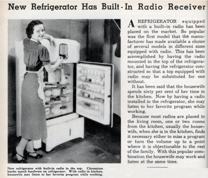 HONRS16group2-1930sFridgeandRadio