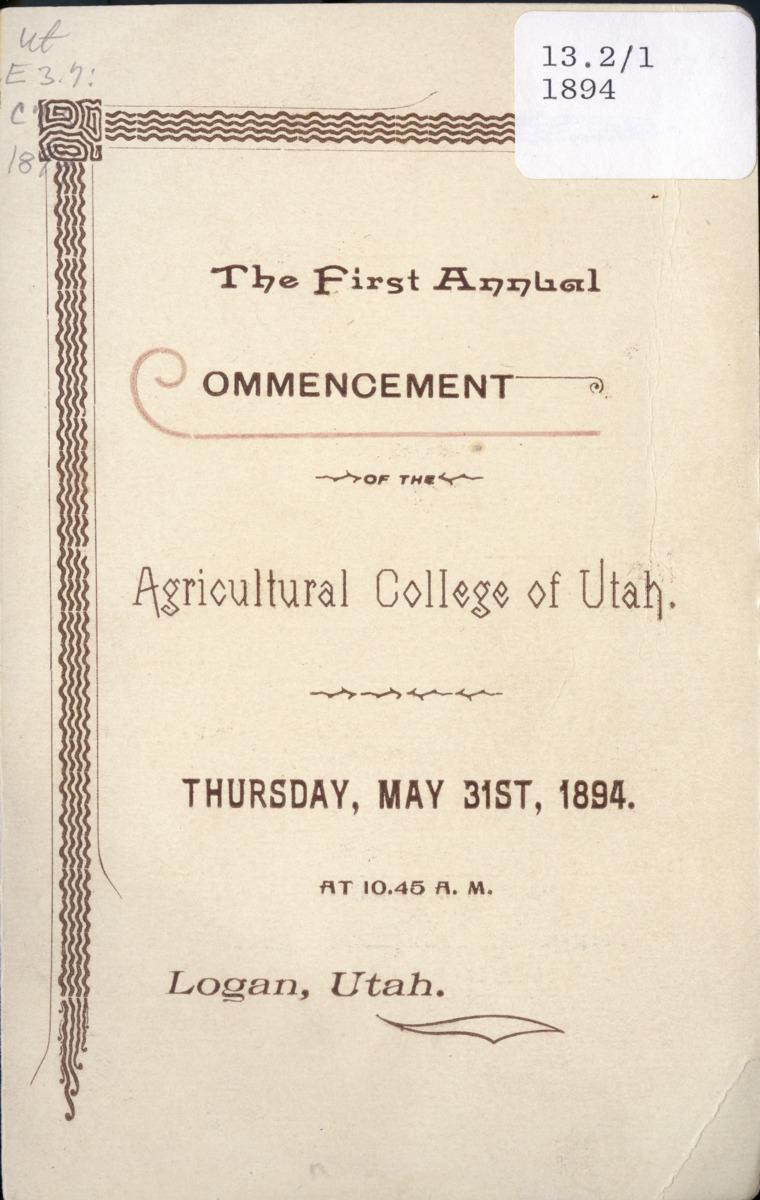 1894 UAC Commencement Program
