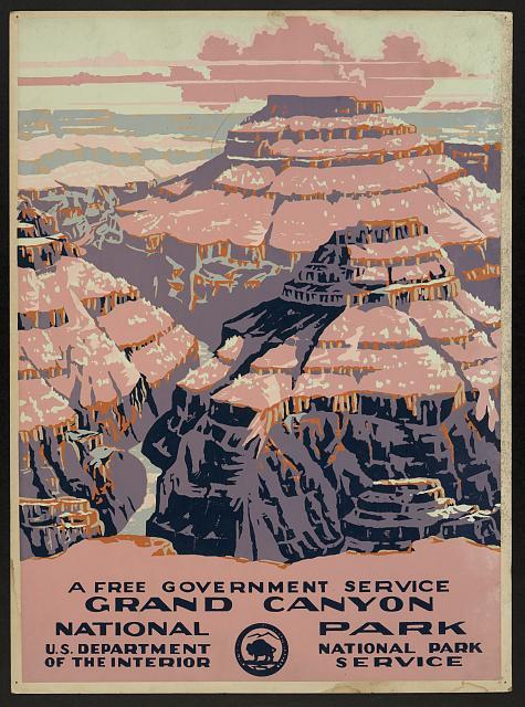 New Deal National Park Service Grand Canyon Poster