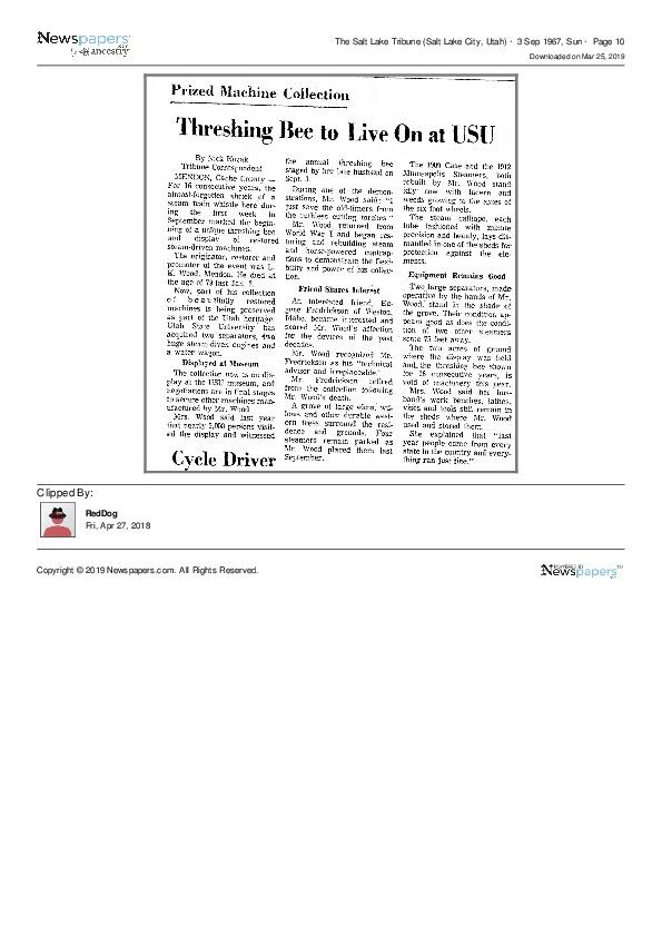 NEWS-SaltLakeTribune19670903_ThreshingBeeToLiveOnAtUSU.pdf