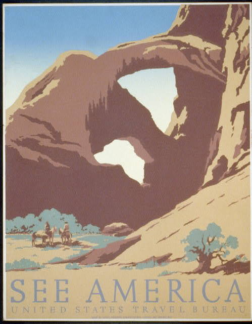 See America First United States Travel Bureau Poster