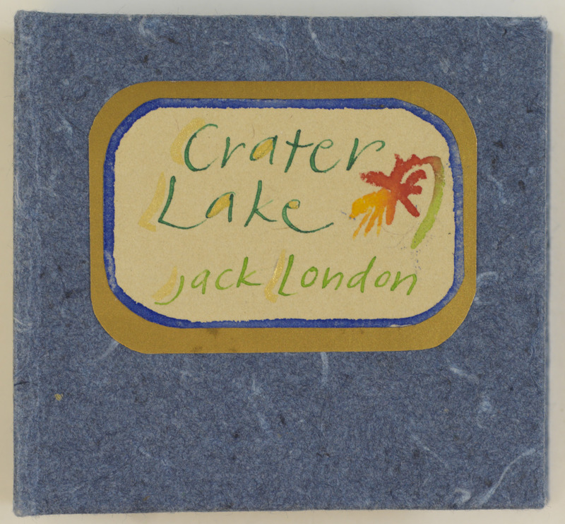 Crater Lake accordion book, front cover