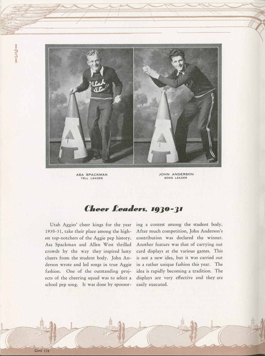 1931 Buzzer cheer leaders page