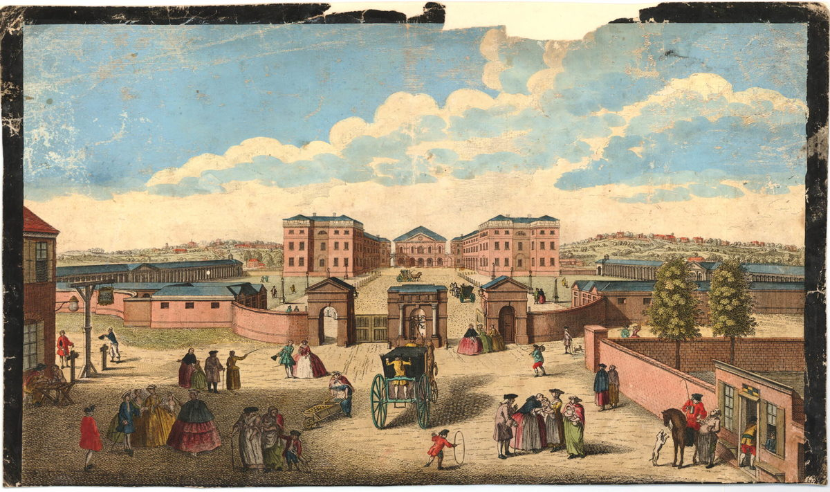 Color View of the Foundling Hospital, from the driveway