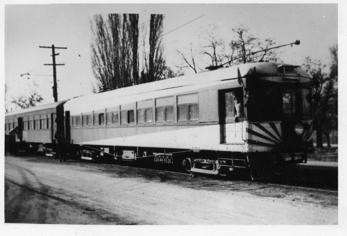 A U.I.C. Engine and Passenger Car in Providence, Utah<br />