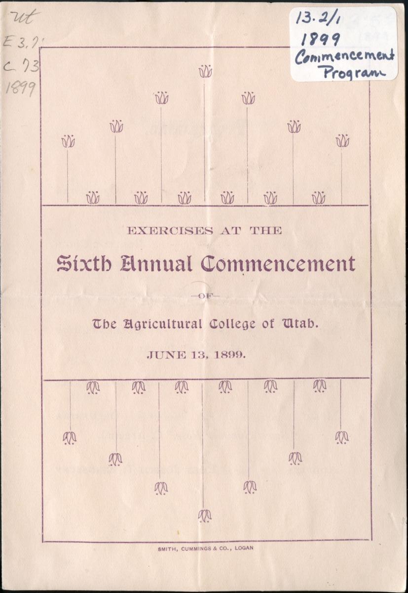 1899 UAC Commencement Program