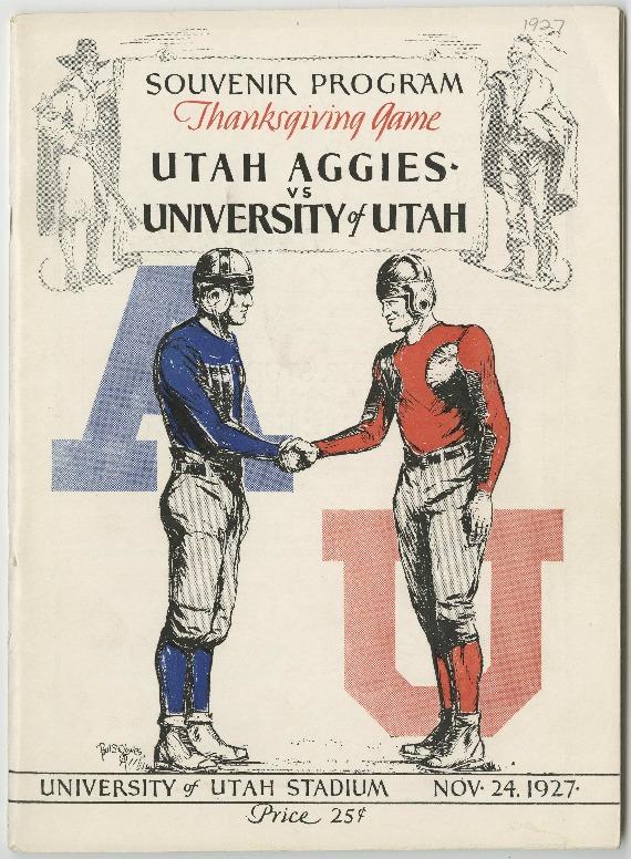Utah Aggies vs. University of Utah 1927 souvenir football game program
