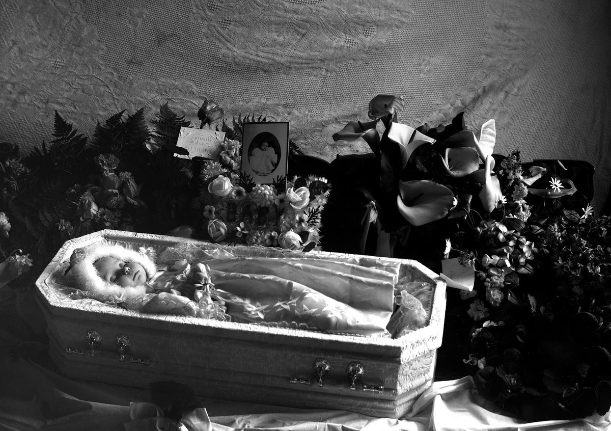 Child in casket
