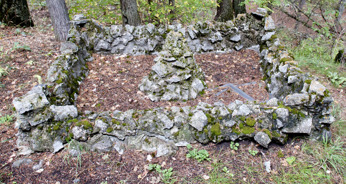 Rock structure on the grounds of St. Anne's Retreat