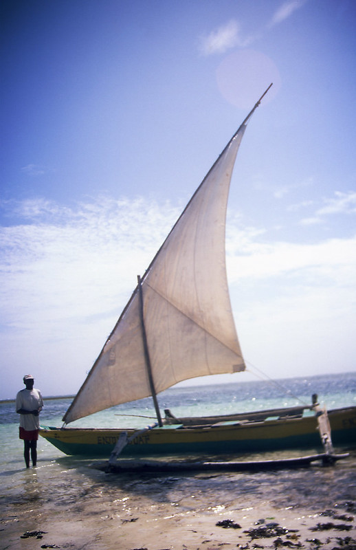 Man with Dhow boat<br />