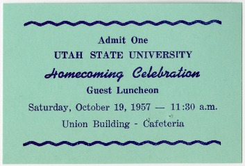 Tickets to Homecoming events offered between 1957 and 1981.