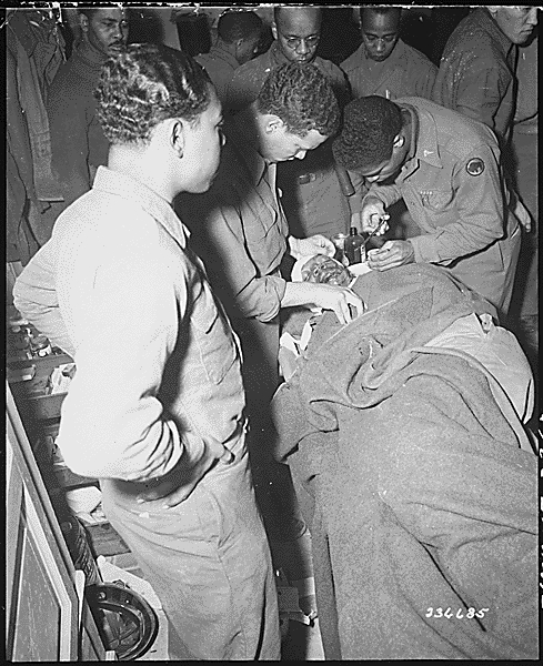 Wounded African-American soldier