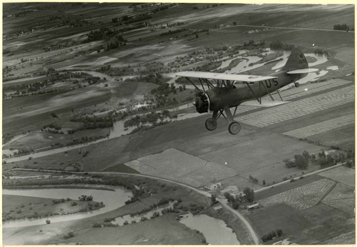 Military Plane in Flight