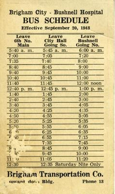 Bushnell bus schedule