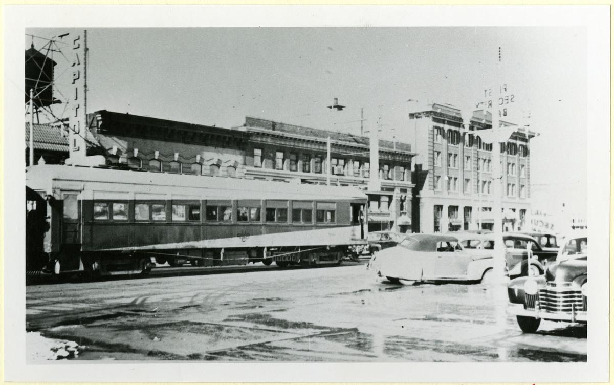 U.I.C. Train on South Main Street, Logan, 1940s<br />