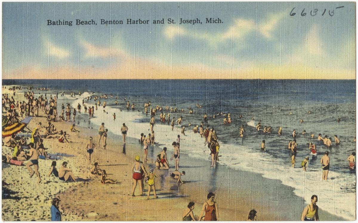 Bathing Beach, Benton Harbor and St. Joseph, Michigan