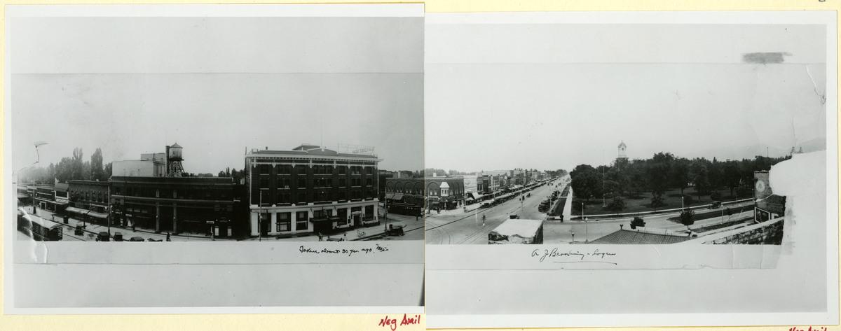 Panorama of Logan Main Street, 1920<br />