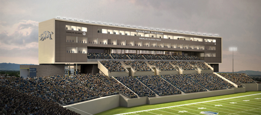 Design concept of Maverik Stadium