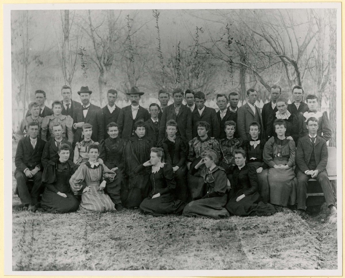 Group photo of faculty and students from Brigham Young College (1893-94)