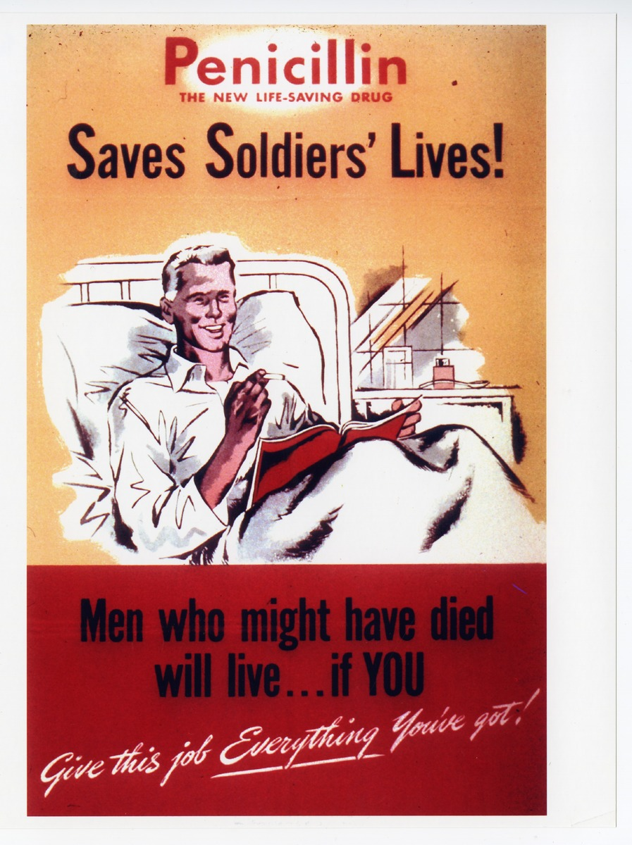 Penicillin poster from World War II