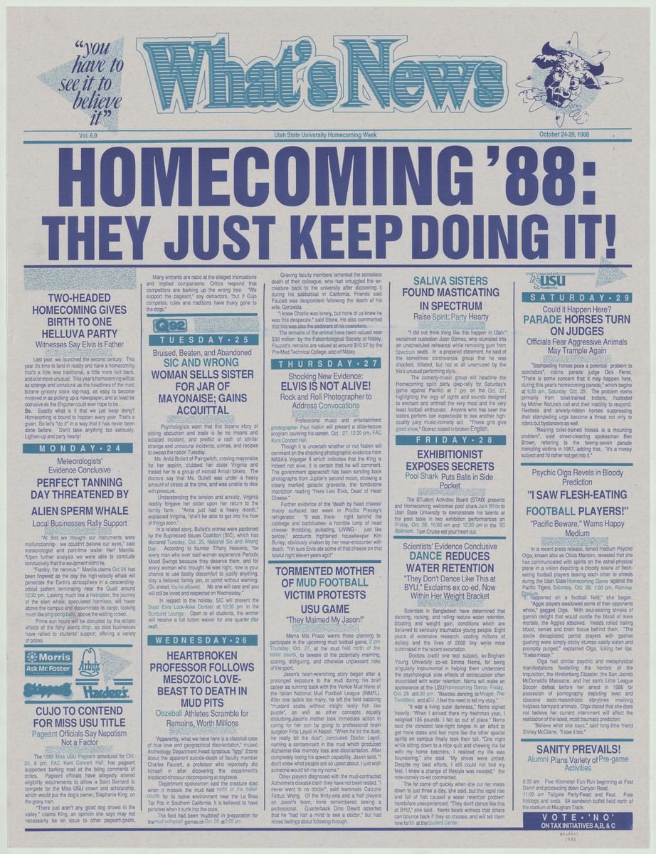 Homecoming poster, 1988