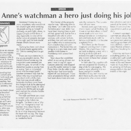 St. Anne's watchman a hero just doing his job