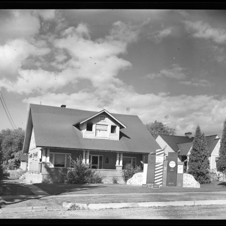 Sigma Pi house decorations, 1949
