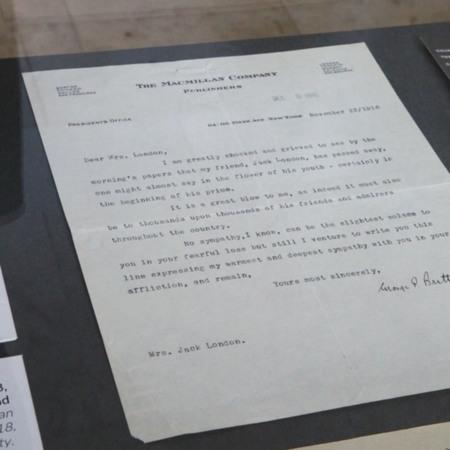 Jack London Pop-Up 100: George Brett Letter