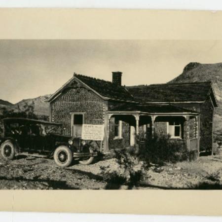 The Bottle House in Rhyolite, Nevada, 1920s