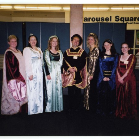 Henry VIII and his six wives at the Hatch Room Gala<br />