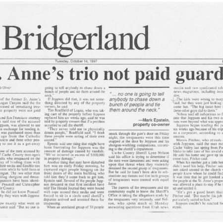 St. Anne's trio not paid guards