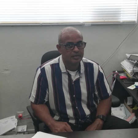 Ali Bahaji in his office<br />