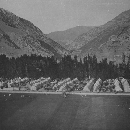 Farmer's encampment, circa 1923;