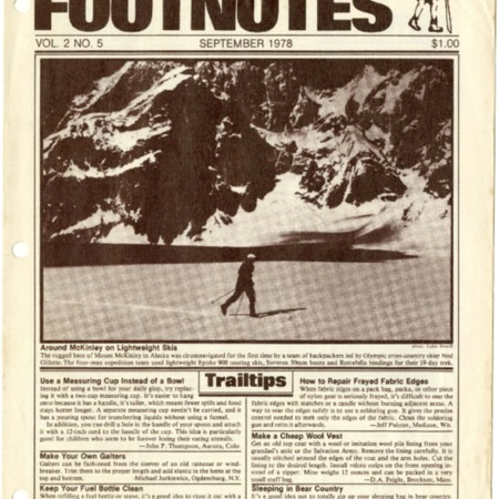 Backpacker Footnotes, September 1978