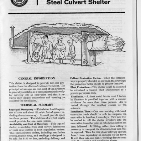 Buried Corrugated Fallout Shelter Design