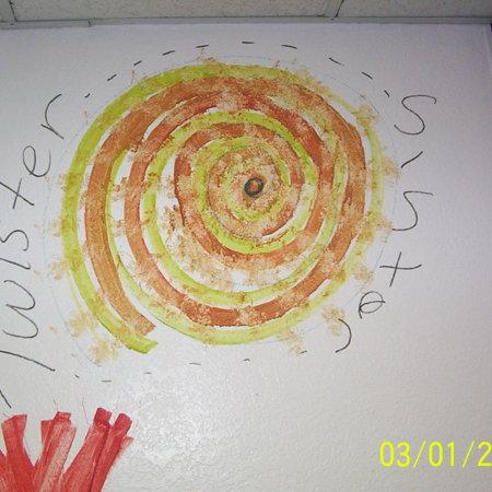 "Merrill Library graffiti - ""Twister Sister"""